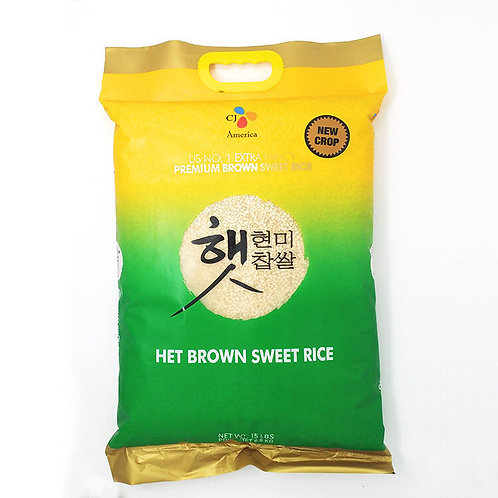 CJ Het Brown Sweet Rice 15lb/ 천하일미 현미찹쌀