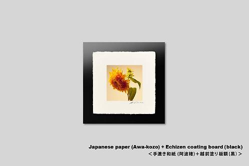 インテリア,写真,手漉き和紙,花,ひまわり,フラワー,アートポスター,アートフレーム,壁掛け,壁飾り,装飾,おしゃれ,額装,正方形,和室,オリジナルプリント,ギャラリー