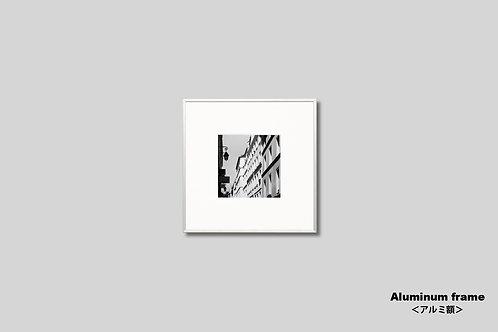 インテリア,写真,風景,モノクロ,フランス,パリ,街並み,建築,インテリアフォト,アート,額入り,額装,オリジナルプリント,正方形,アートフレーム,フォトフレーム,おしゃれ,モダン,壁掛け,壁飾り,装飾,ウォールアート,プレゼント,新築祝い