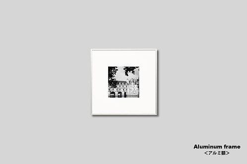 フランス,城,古城,写真,インテリアフォト,モノクロ,正方形,アート,額入り,額装,オリジナルプリント,アートポスター,おしゃれ,モダン,壁掛け,壁飾り,装飾,ウォールアート,プレゼント
