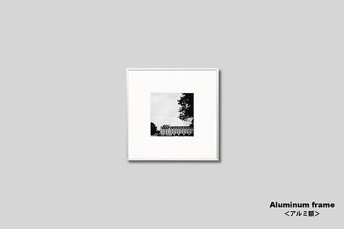 アートポスター,インテリア,写真,フランス,城,古城,インテリアフォト,モノクロ,額入り,正方形,壁掛け,額装,オリジナルプリント,フォトフレーム,おしゃれ,モダン,壁飾り,装飾,ウォールアート,新築祝い