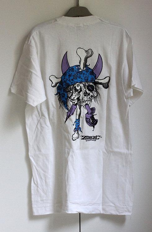 Original NOS Zorlac Metallica Pirate tshirt by Pushead