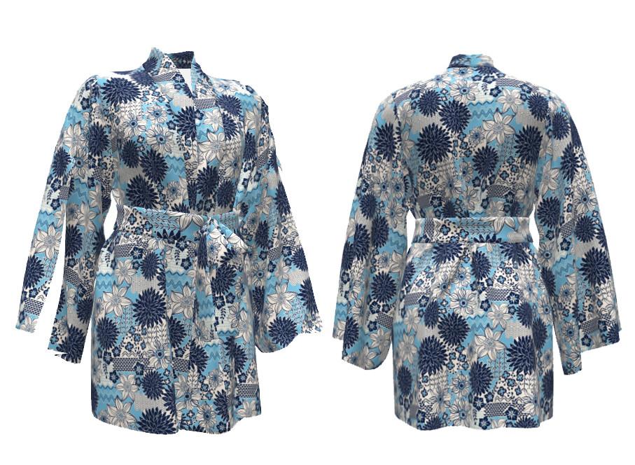 kimono mock up
