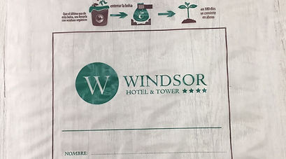 Hotel Windsor bolsa Biodegradable y Compostable