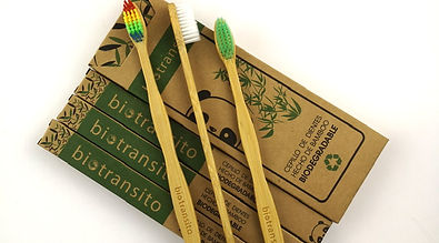 Biodegradable and Compostable Bamboo Toothbrushes