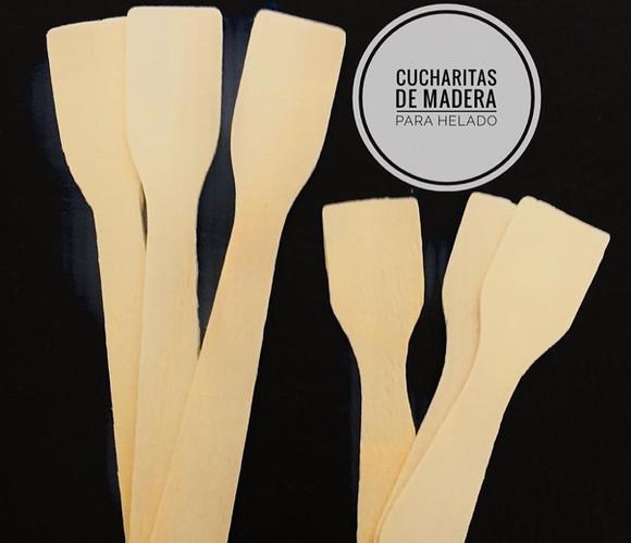 Cucharitas de Madera para sundae