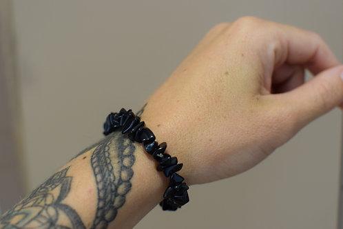 Bracelet baroque Obsidienne noire - Protection spirituelle