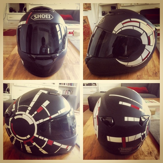 My new helmet design complete!