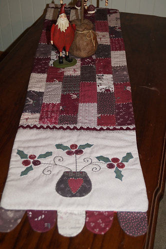 Country Christmas Table runner