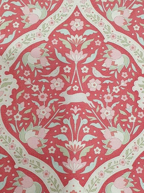 Tilda Bonvoyage Hare Tile Red 1/2m
