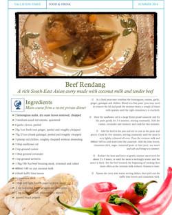 Recipe #5 Beef Rendang