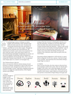 Article #8 The Life Of A Room