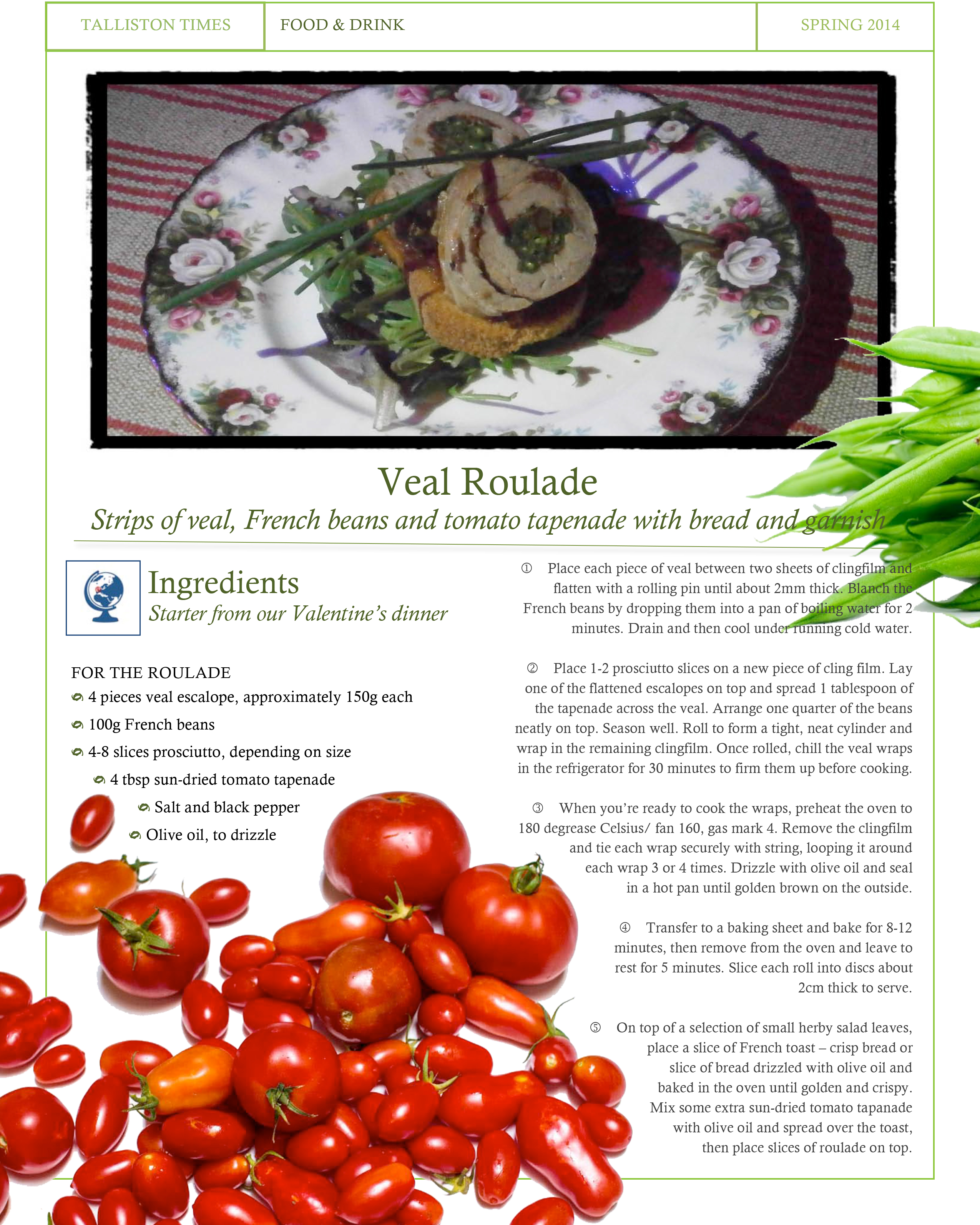 Recipe #4 Veal Roulade