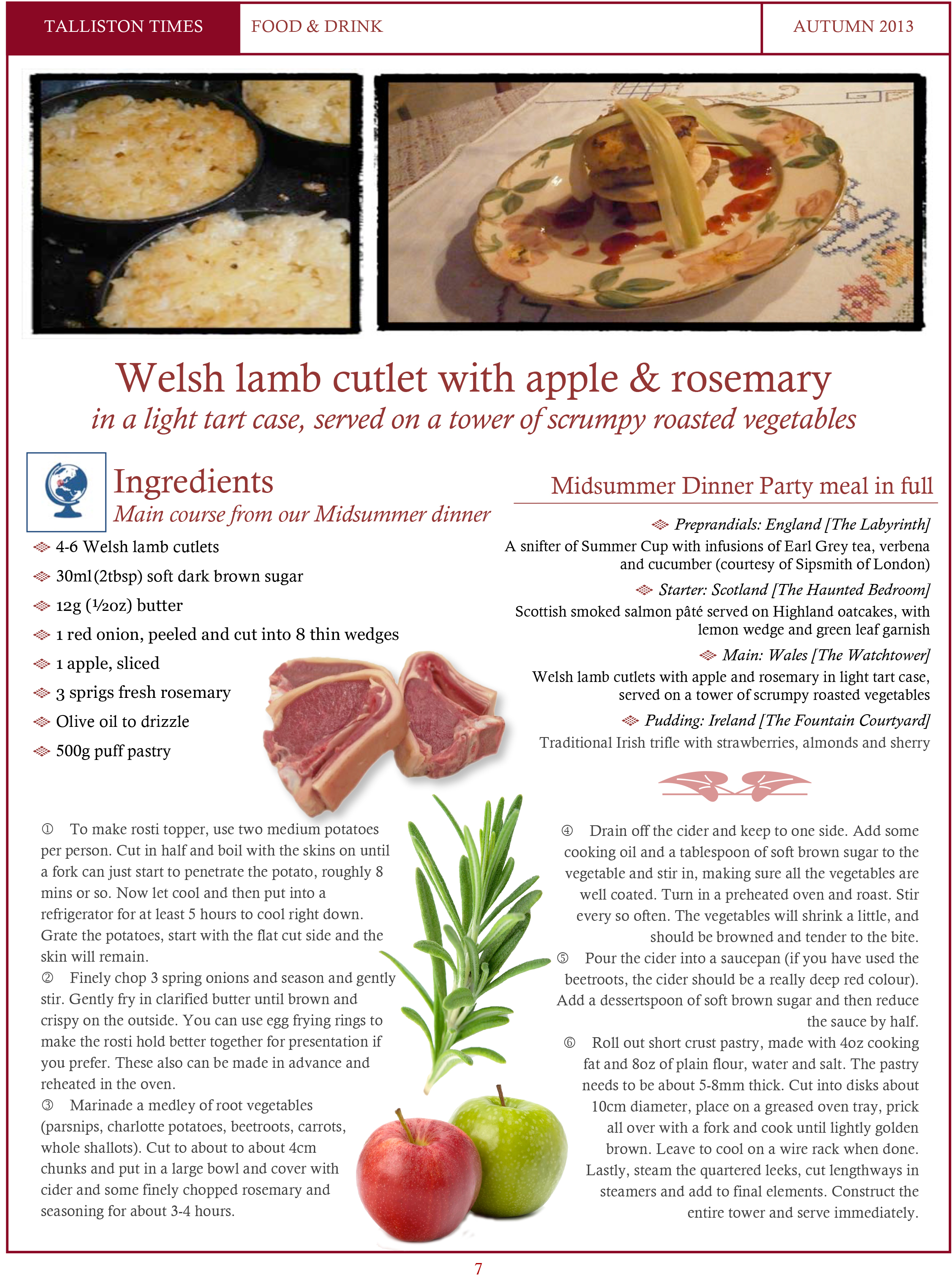 Recipe #2 Welsh Lamb Cutlet