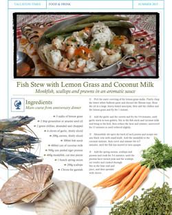 Recipe #9 Fish Stew