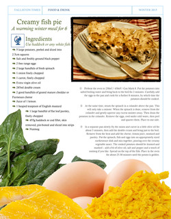 Recipe #7 Creamy Fish Pie