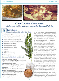 Recipe #1 Clear Consomme