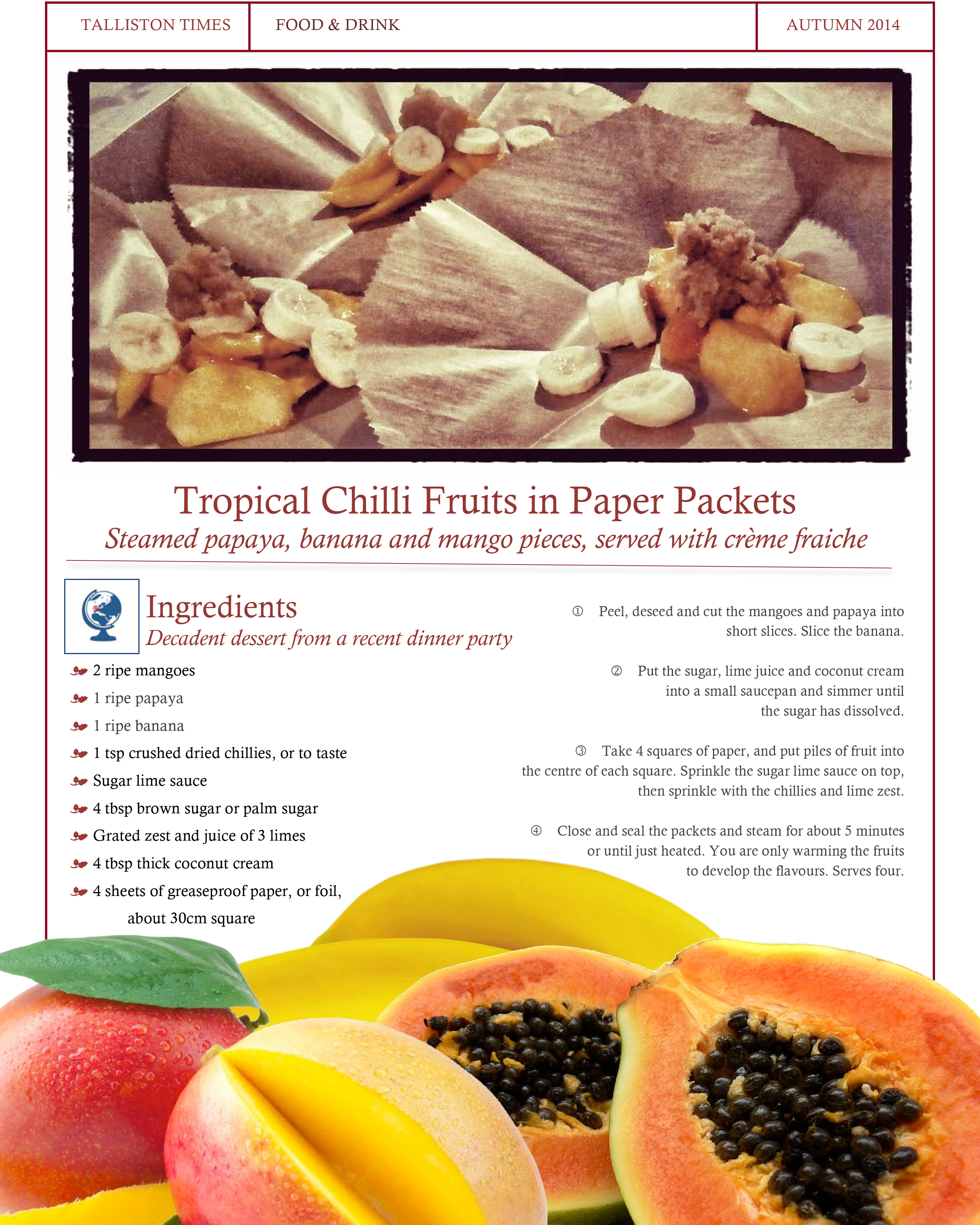 Recipe #6 Tropical Chilli Fruits
