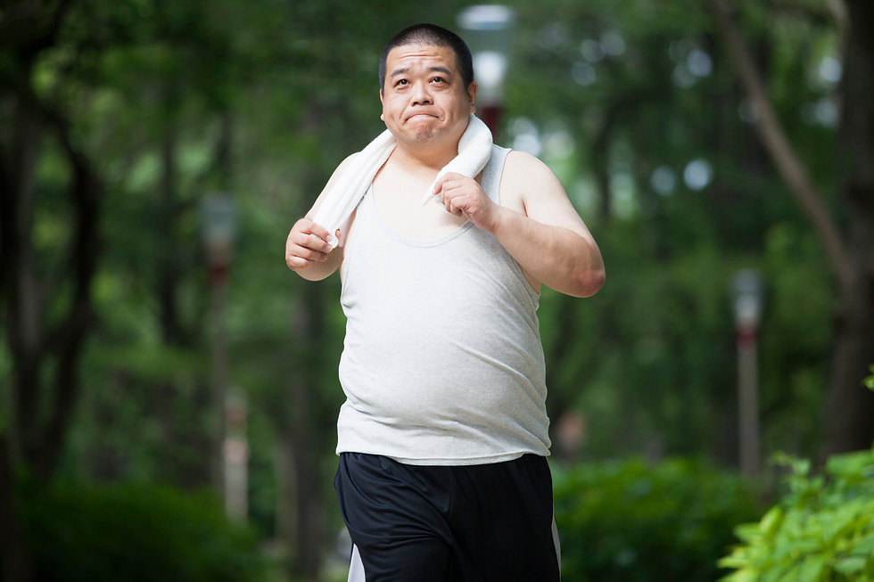 Middle-aged of japanese men who exercise