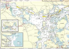 Svezia - mappa zone di pesca