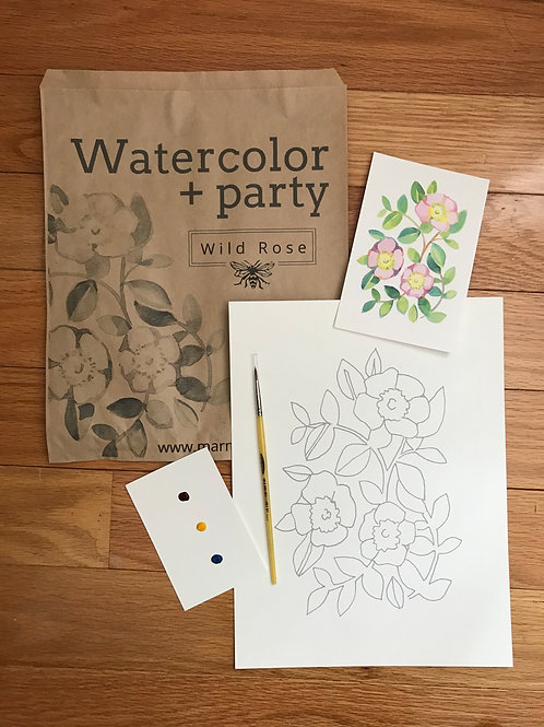 Watercolor Party Kit