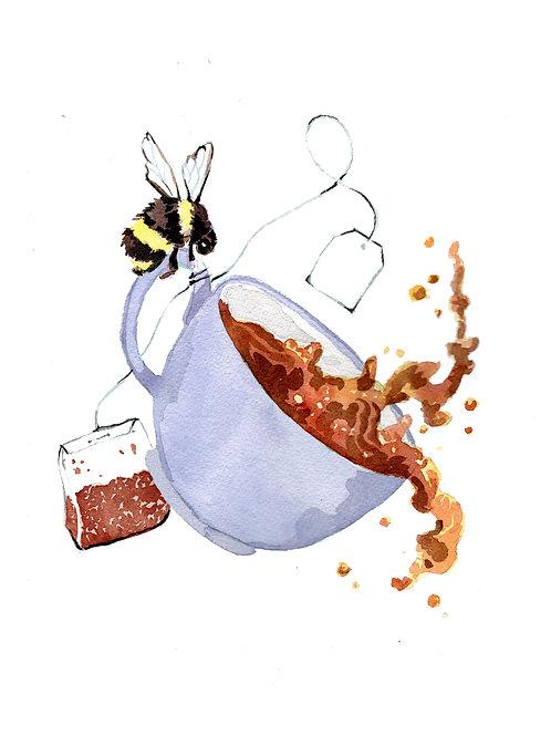 Bumble Tea Print