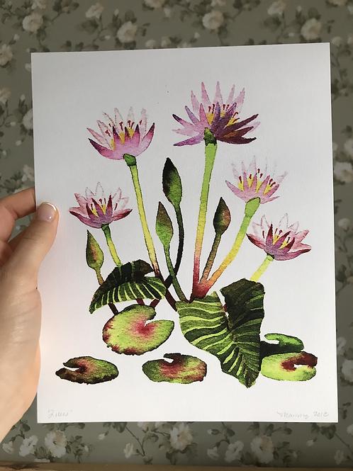 Waterlilies Print