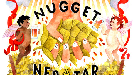 Tröegs Nugget Nectar 2018 Poster Art - FIRST SQUEEZE
