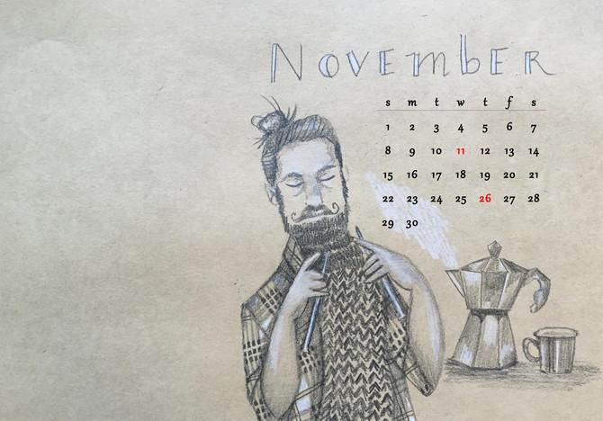 Happy November! (free desktop download)