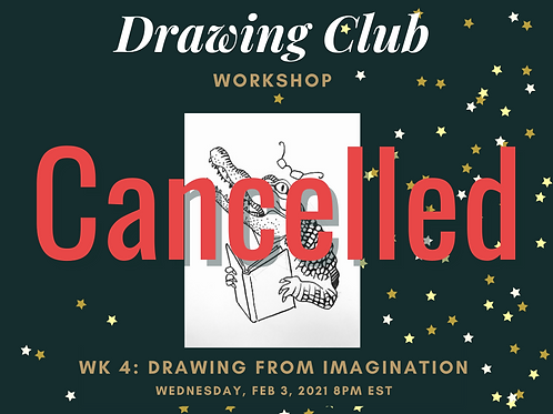 (CANCELLED) Drawing Workshop with Marni (1wk)