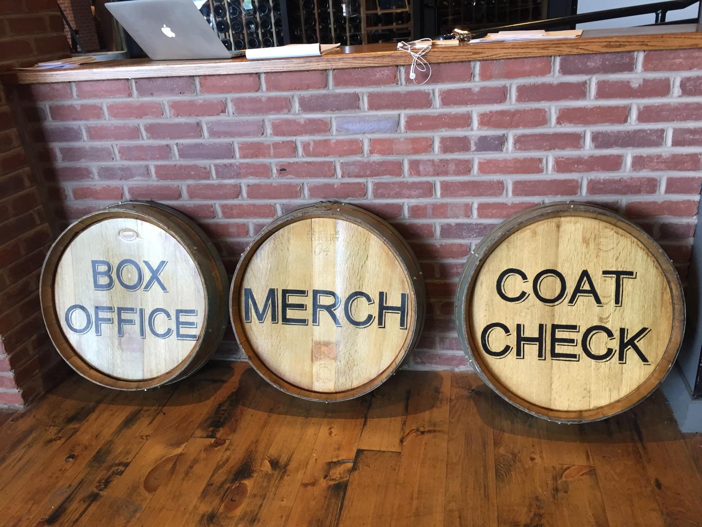 Box Office, Merch, Coat Check