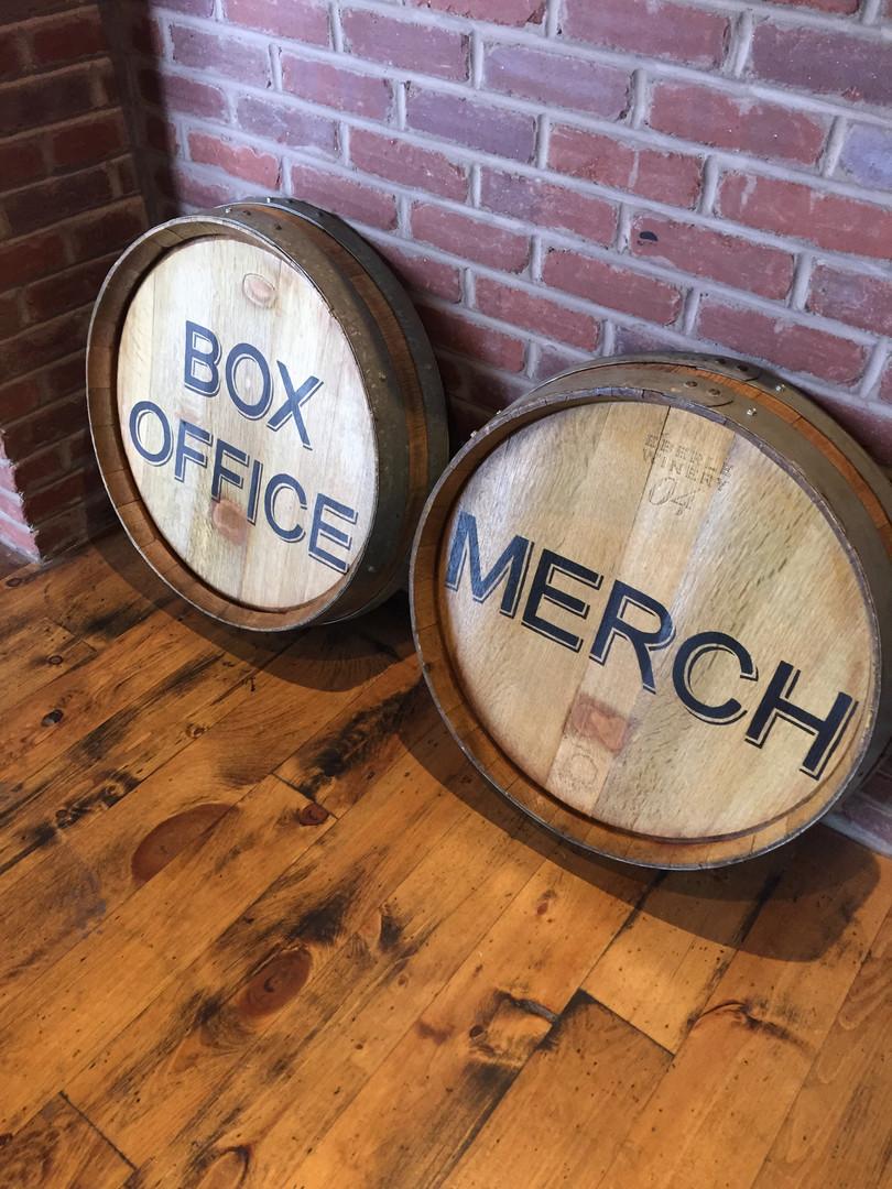 Hand Lettering on Wine Barrels