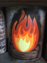 Finished Fire Mural