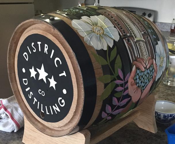 District Distilling Barrel Art