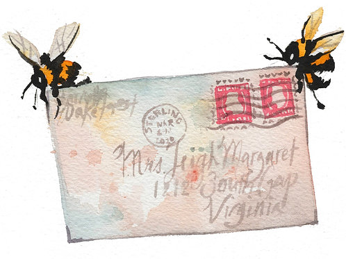 Letter Bees Print