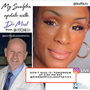 Dr. Douglas Mest from Botched, does an update on Koffa's face, Sculptra