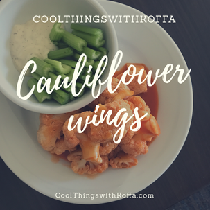 Cauliflower wings Yum