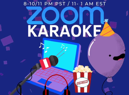 Join me on Zoom for my 40th Birthday for ZOOM Karaoke