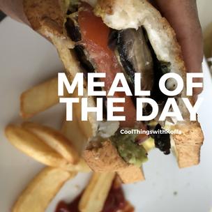Meal of the Day: Avocado 🥑 Mushroom🍄 (Vegan Gluten-free) Almond Melt.