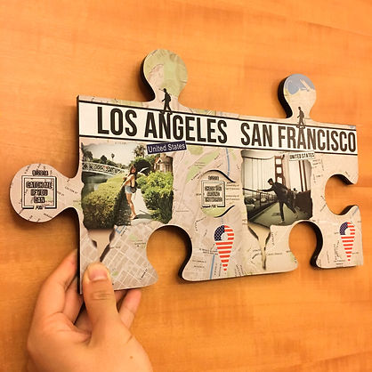 Classic Walker Puzzle as a personalised travel souvenir and collectible travel wall art decor