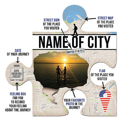 Walker Puzzle as a personalised travel souvenir and travel home decor