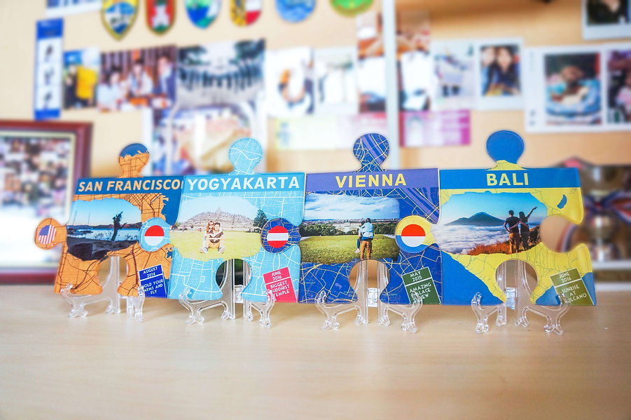 Mini Walker Puzzle as a personalised travel souvenir and travel table decoration