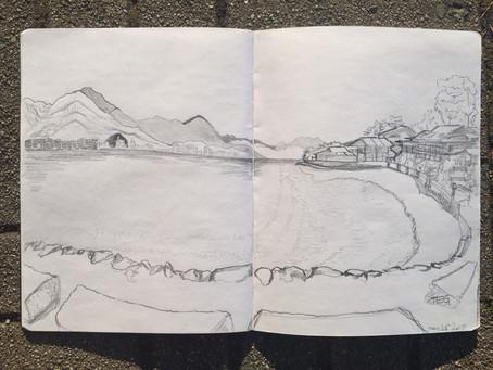 Sketching in Hiroshima
