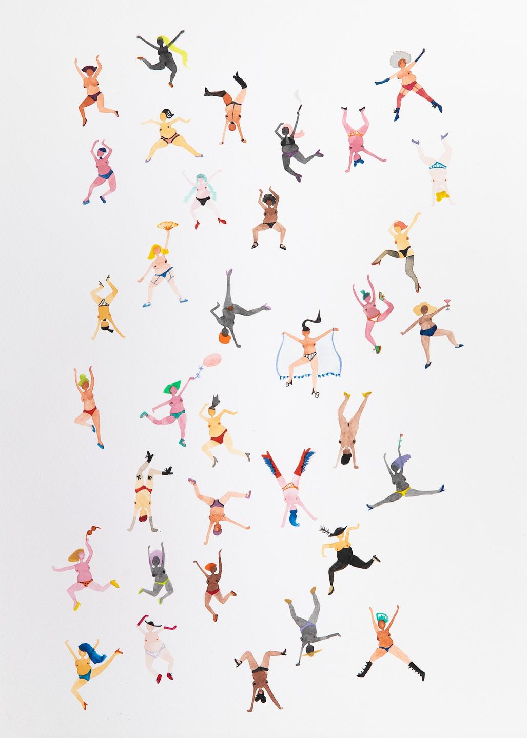 The Never-Ending Dance 29.7 x 42.0cm Watercolour Painting.