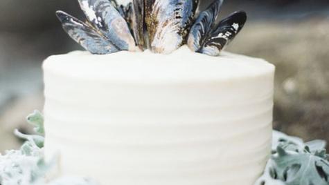 Sea Salt Bourbon Caramel Wedding Cake