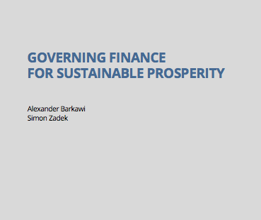 Governing Finance for Sustainable Prosperity and Biodiversity