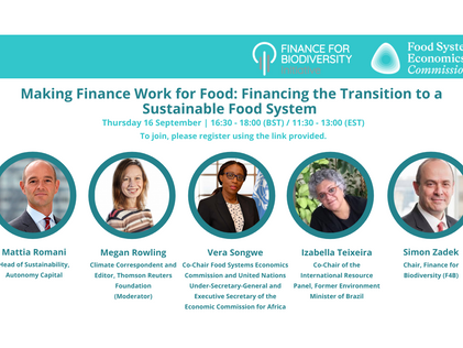 Upcoming Event: Making Finance Work For Food Webinar