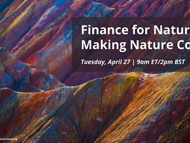 Join us for a webinar: Finance for Nature: Making Nature Count