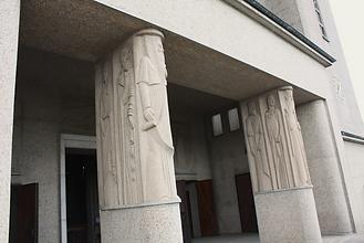 Porche, entrée, Basilique, Notre dame de la Trinité