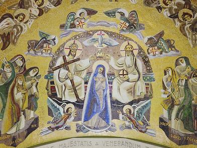 Mosaïque, basilique, notre dame de la trinité